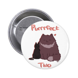 Purrrfect Two 2 Inch Round Button
