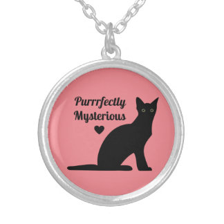 Purrrfectly Mysterious Silver Plated Necklace