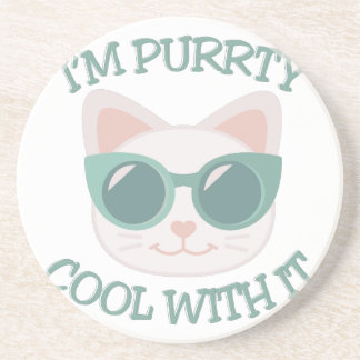 Purrty Cool Beverage Coasters