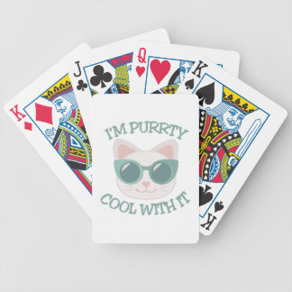 Purrty Cool Bicycle Playing Cards