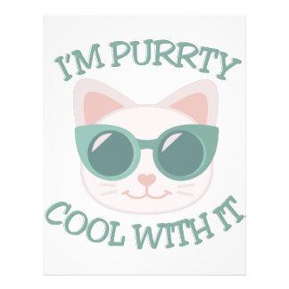 Purrty Cool Personalized Letterhead