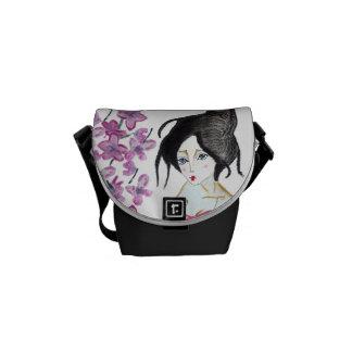 Purse, small geisha, Japanese Courier Bag