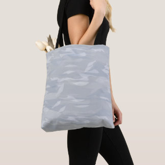 Purse smooth forms blue white gray camouflage tote bag