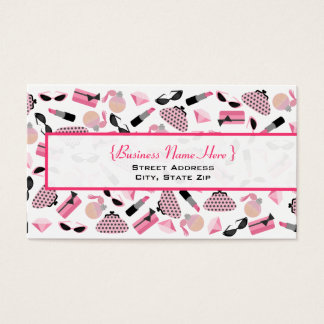 Purses Perfume & Lipstick Business Card