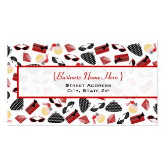 Purses Perfume Sunglasses & Rubies Business Card