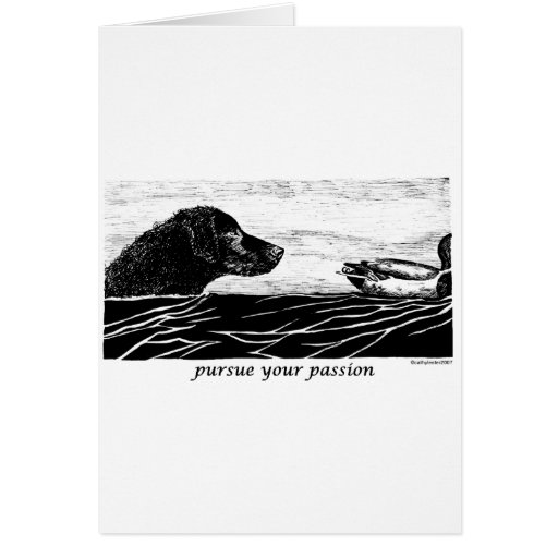 Pursue Your Passion Curly Coated Retriever Greeting Cards