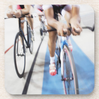Pursuit cycling team in action beverage coasters