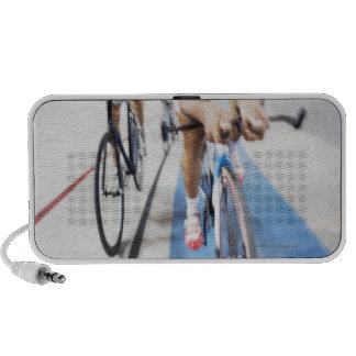 Pursuit cycling team in action portable speakers