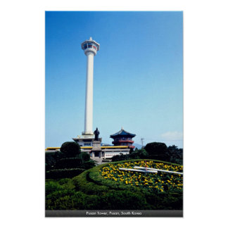 Pusan Tower, Pusan, South Korea Poster