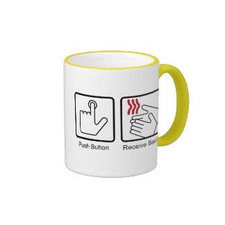 Push Button, Receive Bacon - Bacon Dispenser Coffee Mugs