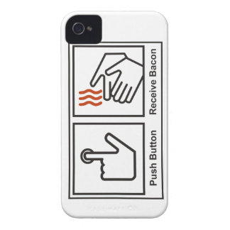 Push button, Receive Bacon iPhone 4 Cover
