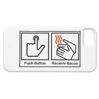 Push Button, Receive Bacon iPhone 5 Covers