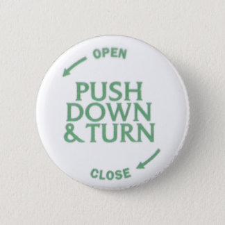 Push Down & Turn 2 Inch Round Button