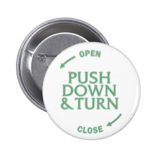 Push Down & Turn 2 Inch Round Button