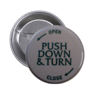 Push Down & Turn novelty 2 Inch Round Button