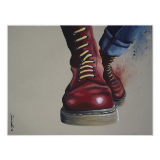 Push it up - Skinhead painting Poster