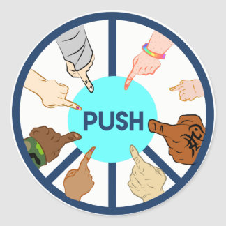 PUSH Round Sticker