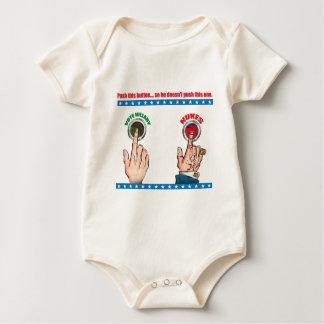 Push This Button... Baby Bodysuit