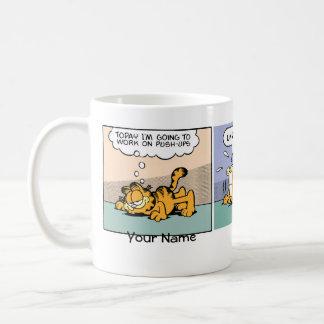 """Push-Ups"" Garfield Comic Strip Mug"
