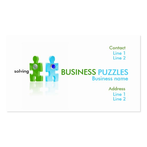 pushbutton, BUSINESS, PUZZLES, solving, Busines... Business Card