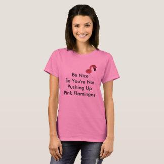 Pushing Up Pink Flamingos Womans T-Shirt