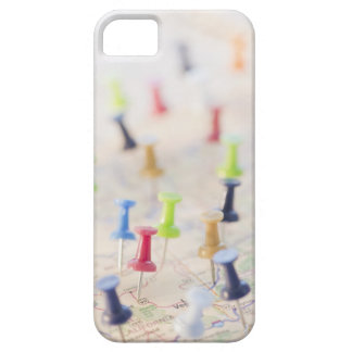 Pushpins in a map 2 case for the iPhone 5