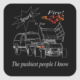 Pushy People Sq Sticker