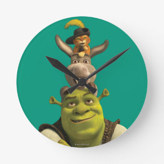 Puss In Boots, Donkey, And Shrek Clock
