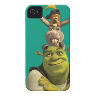 Puss In Boots, Donkey, And Shrek iPhone 4 Cover