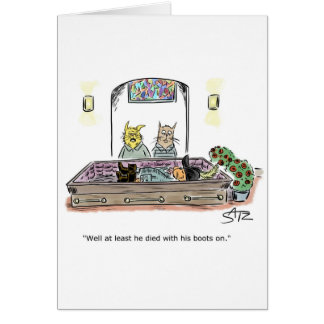 Puss with boots greeting card