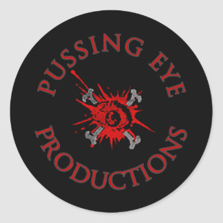 Pussing Eye Logo [STICKER SHEET] Classic Round Sticker