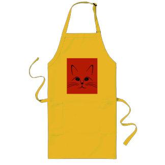 pussy cat face long apron