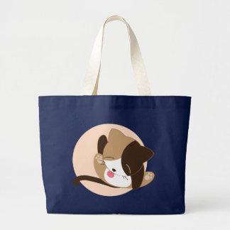 Pussy Cat Lick Large Tote Bag