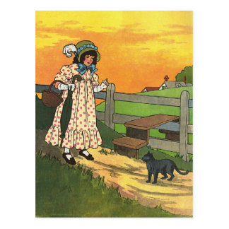 Pussy-cat, pussy-cat, Where have you been? Postcard