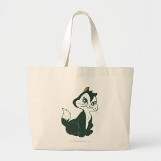 Pussy Foot Sitting Large Tote Bag