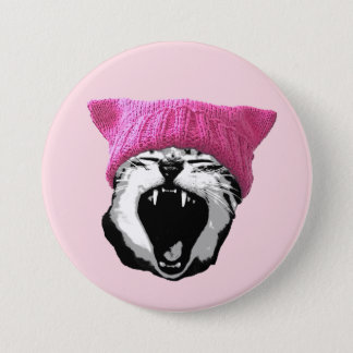 "Pussy-hat Button (3"")"