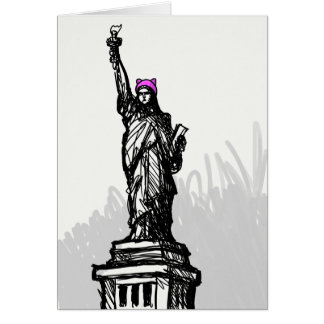 Pussy Hat Liberty Card