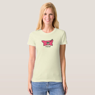 Pussy Hat Resist t-shirt with peace sign
