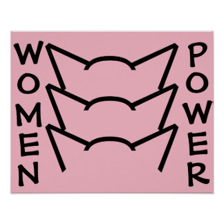 Pussy Power Cat Ears Pink Resistance Women Protest Poster