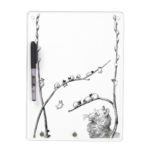 Pussy Willow Kittens and Mother Cat Dry Erase Whiteboards