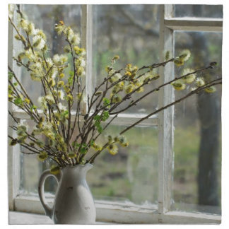 Pussy Willows By The Windowsill Napkin