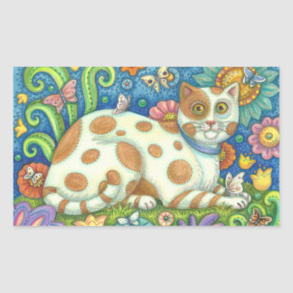 PUSSYCAT, CAT STICKERS Rectangle, Sheet