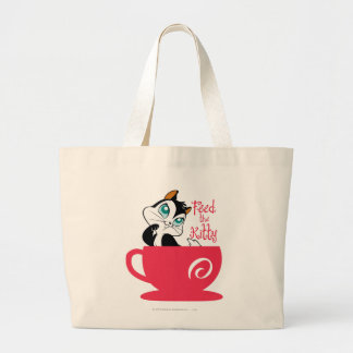 Pussyfoot Feed the Kitty Large Tote Bag