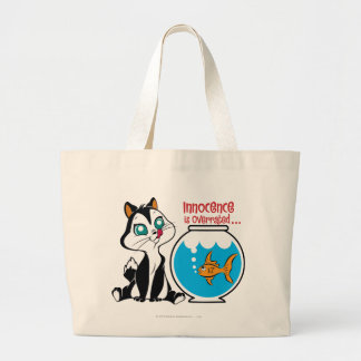 Pussyfoot Innocence is Overrated Large Tote Bag
