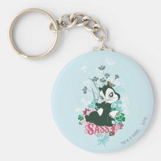 Pussyfoot Sassy Basic Round Button Keychain
