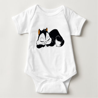 Pussyfoot Sleepy Kitty Baby Bodysuit