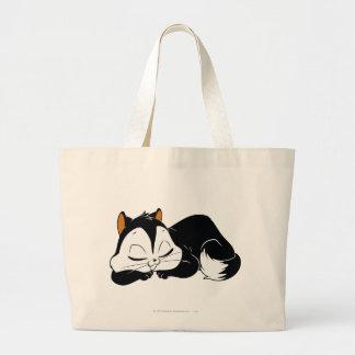 Pussyfoot Sleepy Kitty Large Tote Bag