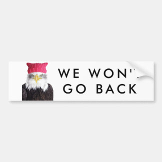 PussyHat Project Women's Rights Eagle Bumper Sticker