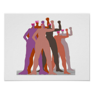 Pussyhats Stand Together Poster