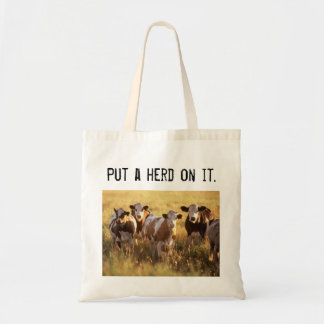 Put a herd on it. tote bag